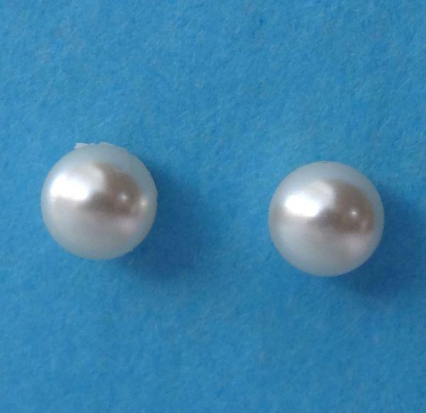 Baby Girl Children Cream Pearl Stud Post in Sterling Silver Earrings, Flower Girl Earrings, First Communion