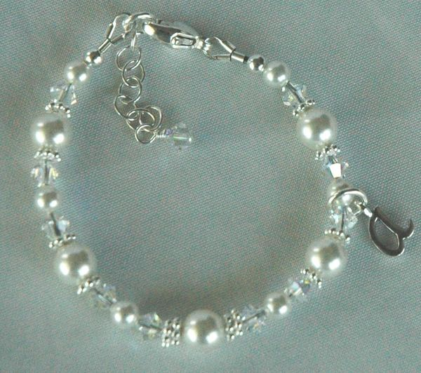 Princess Initial Children Bracelet, Flower Girl Bracelet, Junior Bridesmaid, Baptism Bracelet,