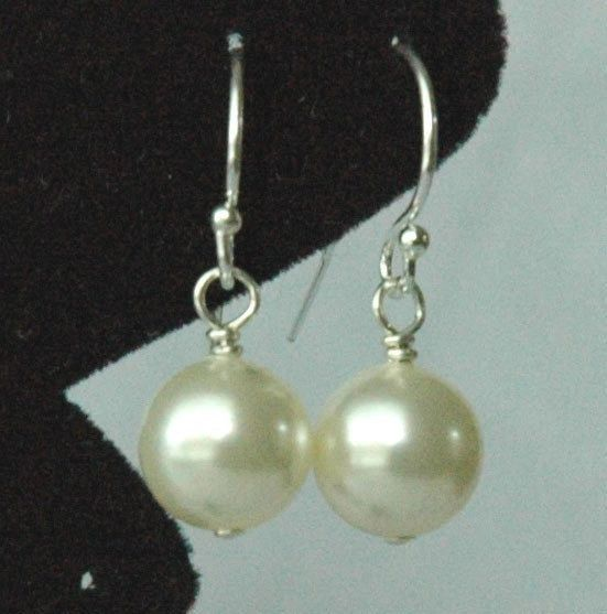 Just a Pearl - Swarovski Crystal Cream Pearl Earrings - Choose Your Color