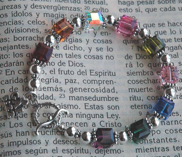 Fruit of the Spirit Bracelet, Godmother Present, Galatians Charm, Religious Bracelet