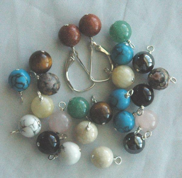 Interchangeable Sterling Silver Leverback Earrings - 6 Pairs, Interchangeable gemstone dangle