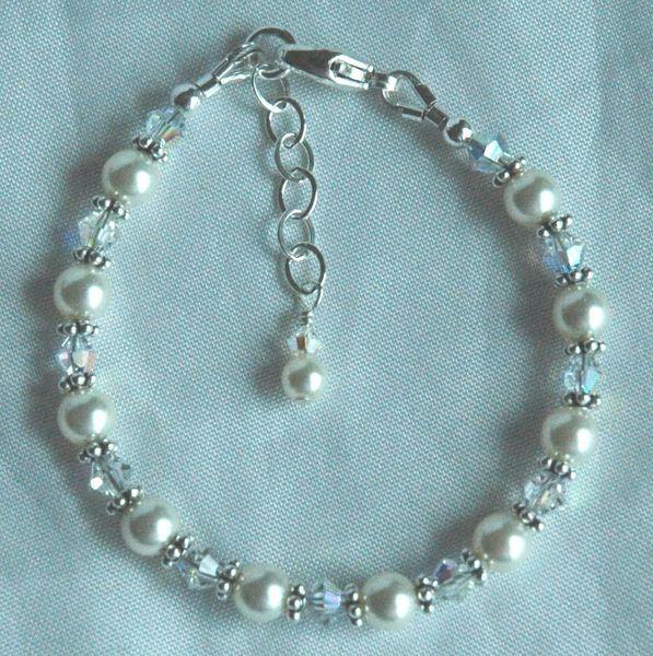 Child Swarovski Crystal Pearl Bracelet