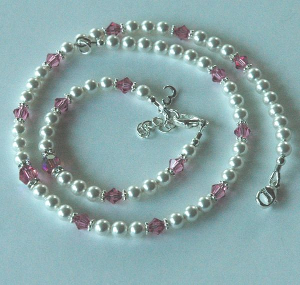 Initial Custom Children Bracelet and Necklace -SET
