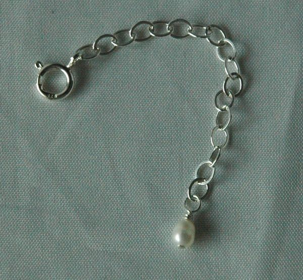 "One 1"" Inches Sterling Silver Jewelry Extender"