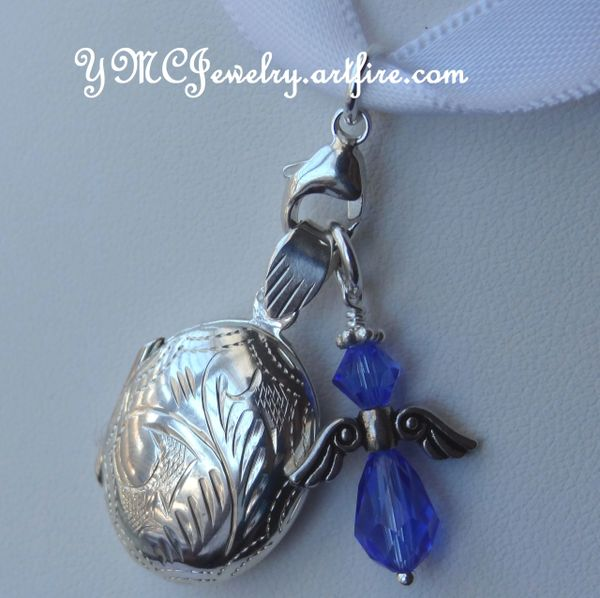 Something Blue Charm, Something Blue Bouquet Charm, Bouquet Charm, Swarovski Crystal Blue Cross Charm, Something Blue Wedding Bouquet Charm