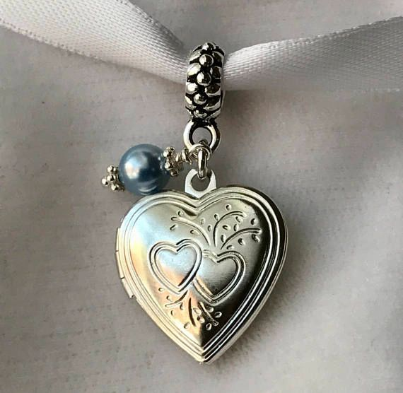 Something Blue Locket Charm, Something Blue Bouquet Charm, Something Blue Wedding Bouquet Charm, Bouquet Memorial Locket Charm, Garter Charm