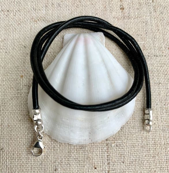 Leather Cord Necklace, Leather Cord Choker, Boy Leather Cord Necklace