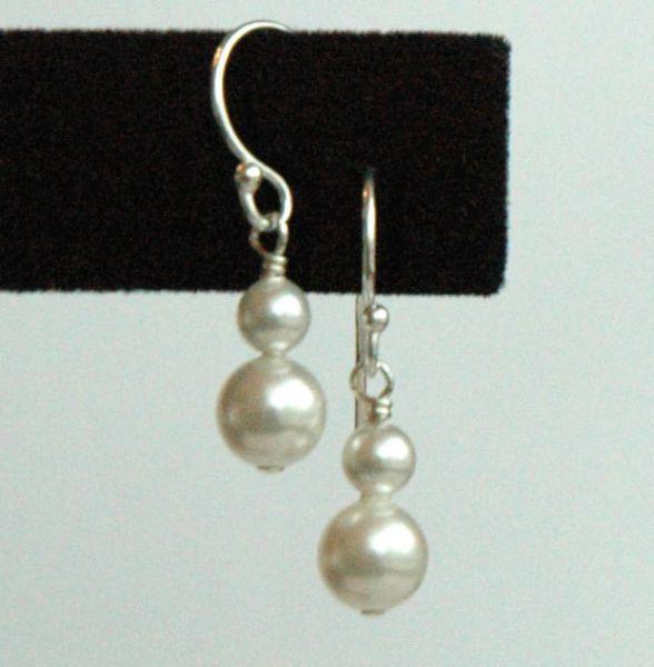 Swarovski Crystal Pearls and Sterling Silver Children Earrings, Flower Girl Earrings, Confirmation, First Communion Earrings