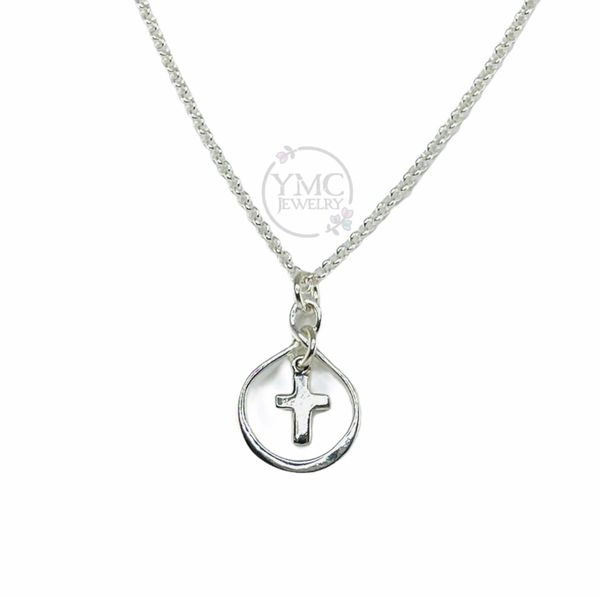 Sterling Silver Smal Infinity Cross Necklace