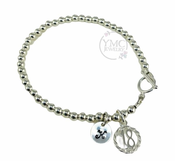 Sterling Silver 18th Bracelet, 18th Eighteen Birthday Jewelry Gift
