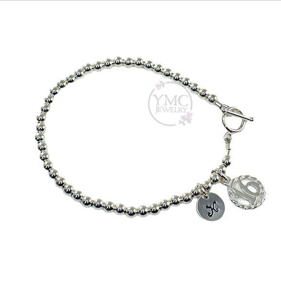 Sterling Silver Sweet 16th Bracelet, Sweet Sixteen Birthday Jewelry Gift Ideas