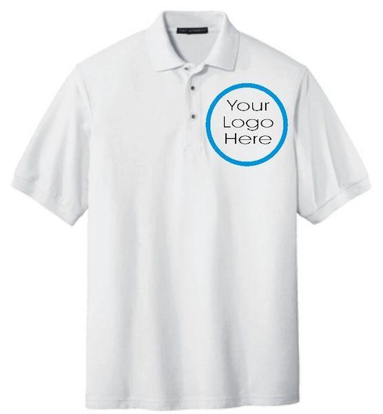 Custom Logo Embroidery Polo Shirts Your Logo Embroidered Polo Shirts Pack  of 4 Shirts Great Business Logo Uniform Shirts 4 Pack Logo Embroidery
