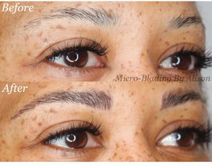 micro-blading tattooed eyebrows powder brows tina davies tattooing certified cosmetic tattoo artist