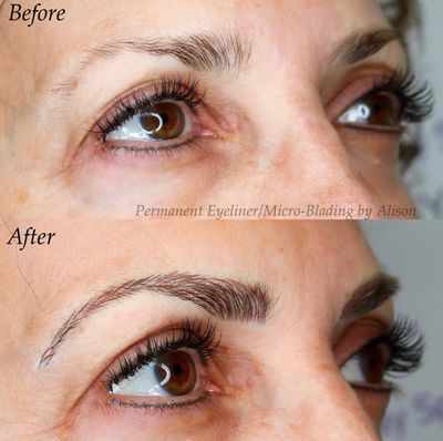 micro-blading brow blading feather brows permanent cosmetics tattooed brows semi-permanent brows