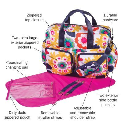 Navy Ikat Diaper Bag Monogram Ikat Diaper Bag Set Zipper Pouch /& Changing Pad with Monogram Coral Ikat with Coral Diaper Bag