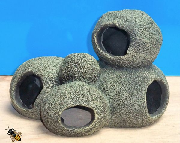 Cave Rock Hide Pebble Tunnel Aquarium Ornament Fish Tank Decoration