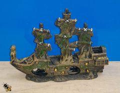 Aquarium Ornament Shipwreck Sunken Boat Ship Fish Tank Decoration