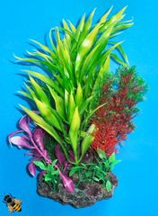 Aquarium Ornament Artificial Plant Reef Sucker Mounted Fish Tank Decoration