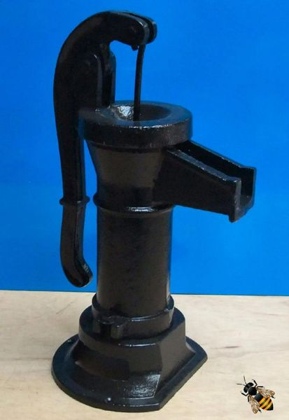 Garden Ornament Cast Iron Pitcher Pump Water Feature Black