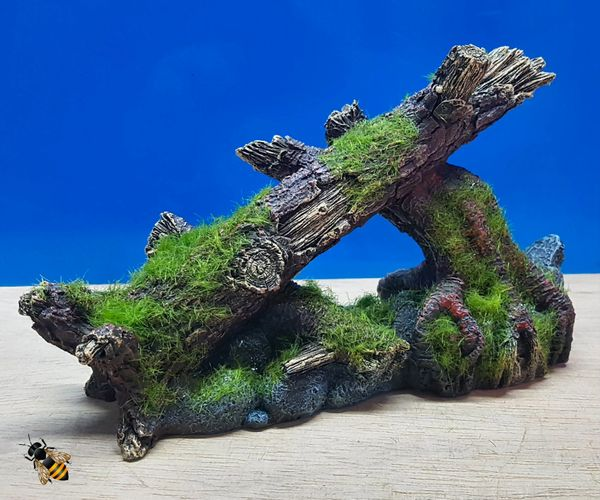 Moss Covered Tree Rock Aquarium Decoration Fish Tank Ornament
