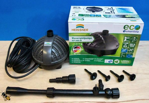 Garden Fish Pond Pump 3000ltr ECO Fountain Waterfall Submersible Outdoor