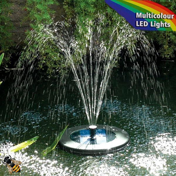 Floating Solar Lily Pond Pump Multi Colour LED Light Solar Pump Remote