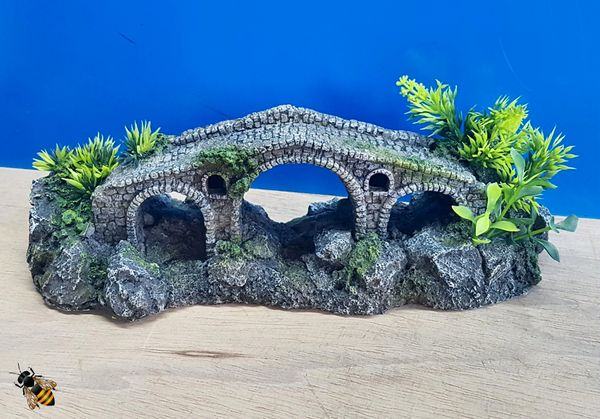 Stone Bridge Cave Aquarium Ornament Rock Fish Tank Decoration