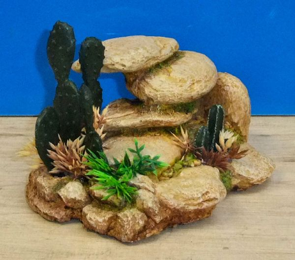 White Stone Rock Cluster Aquarium Ornament Fish Tank Bowl Decoration Classic