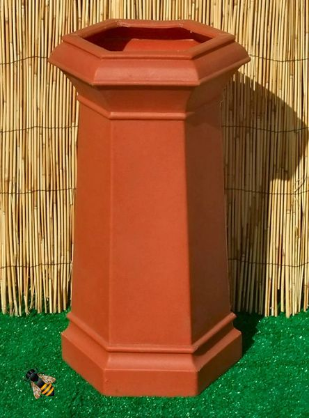 Chimney Pot Garden Planter Patio Flower Tub Terracotta Colour