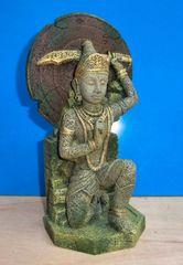 Buddha Warrior Thai Statue Aquarium Ornament Fish Tank Bowl Decoration