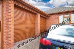 EG55 Oak Electric Roller Garage Door 9X8