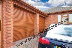 EG55 Oak Electric Roller Garage Door 9X8