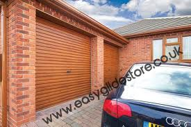 EG55 Oak Roller Electric Garage Door 10X8