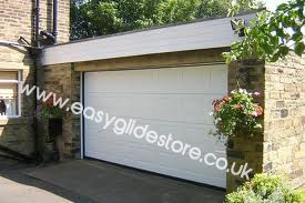 Sectional Electric Garage Door 12X7 White