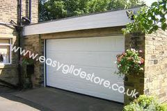 Sectional Electric Garage Door 14X7 White