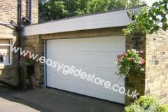 Sectional Electric Garage Door 15X7 White