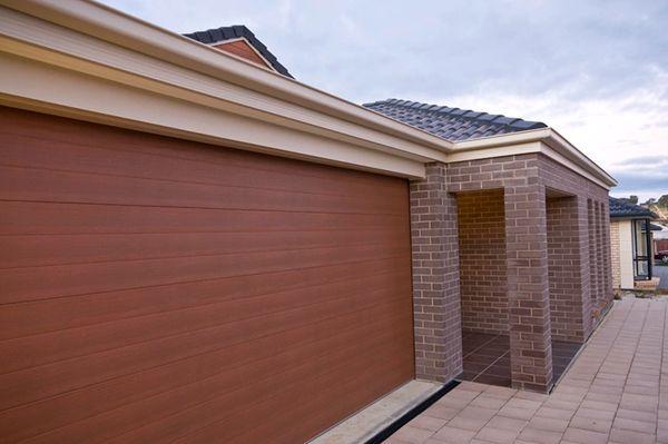 Sectional Electric Garage Door 7X7 Nut Brown