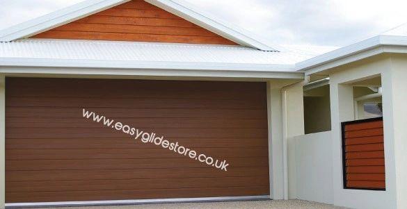 Sectional Electric Garage Door 12X7 Nut Brown