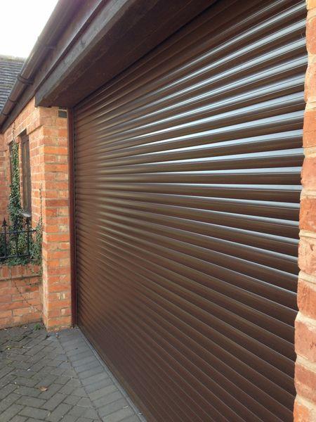 EG55 NUT BROWN 10X8 ELECTRIC ROLLER GARAGE DOOR