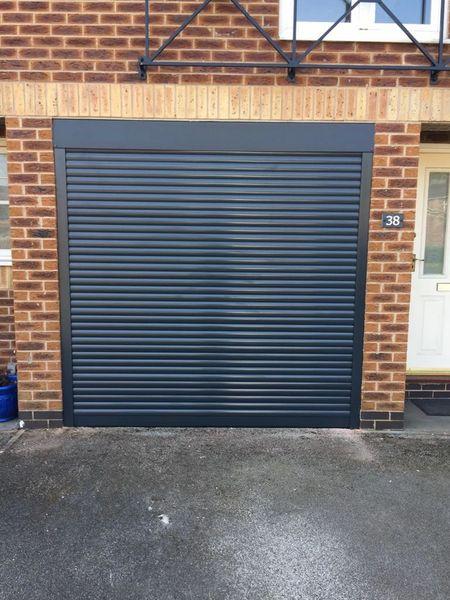 EG55 9X8 ANTHRACITE ELECTRIC ROLLER GARAGE DOOR