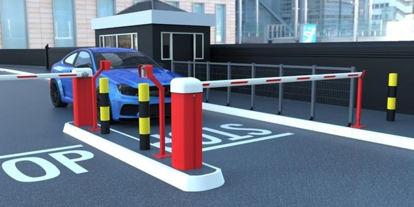 AUTOMATIC CAR PARK BARRIER WITH 4 REMOTES ,PHOTO CELLS AND ARM REST