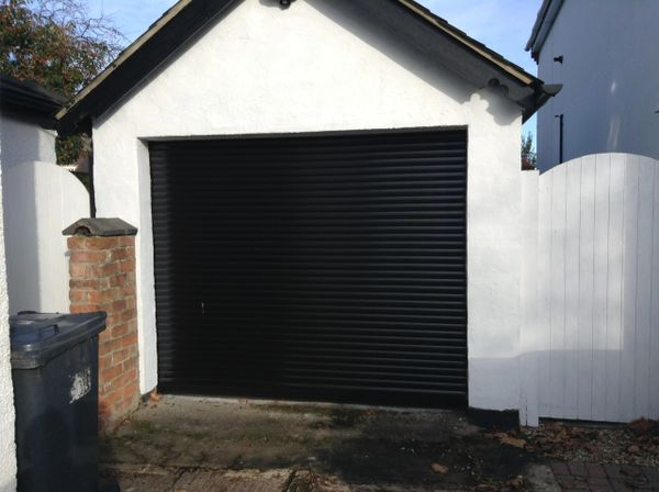 EG55Black Roller Electric Garage Door 10X8
