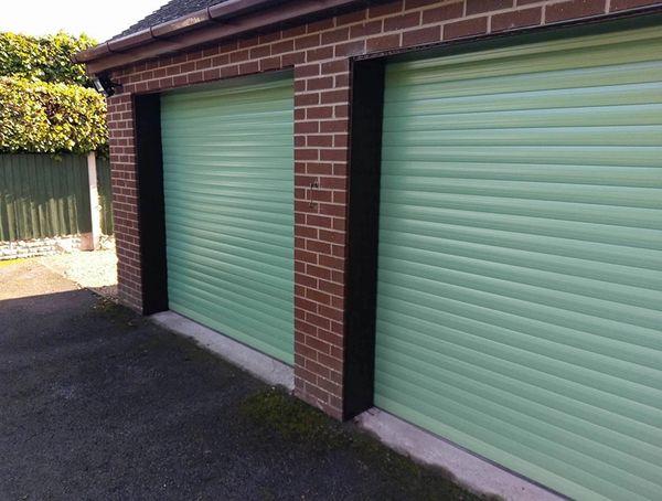 Eg55 Chartwell Green Roller Garage Door 8x8