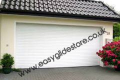 EG55 White Electric Roller Garage Door 8x8