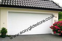 EG55 White Electric Roller Garage Door 9x8