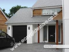 EG55 Black Electric Roller Garage Door 9X8