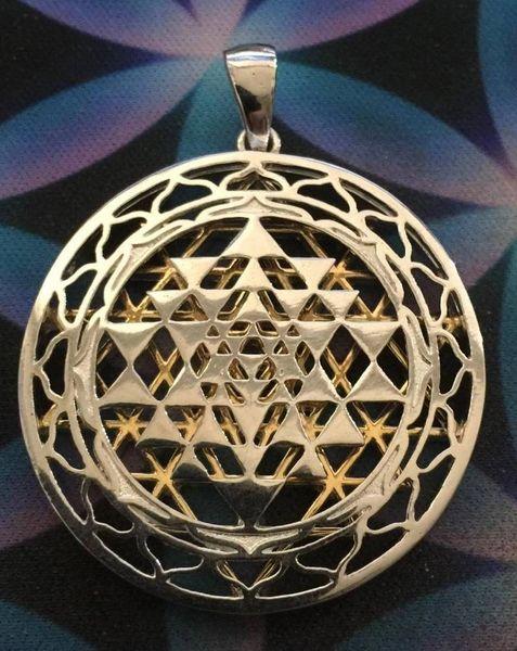 Double Sri Yantra Matrix Pendant
