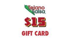 Tejano Salsa Gift Card $15