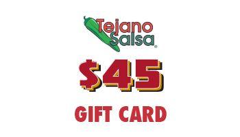 Tejano Salsa Gift Card $45