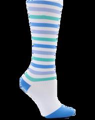 Compression Socks -Blue-Purple-Teal Stripe